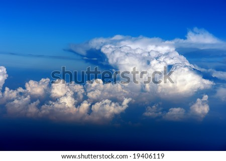 Clouds on a blue sky background - stock photo