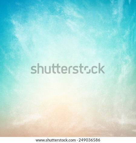 clouds on a textured vintage paper background  - stock photo