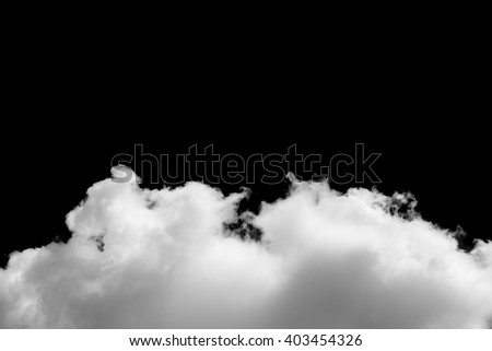 Clouds on black background