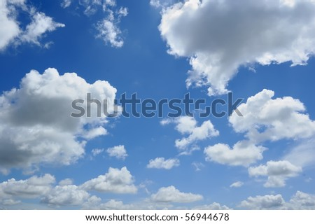 Clouds on Blue Sky, good for background - stock photo