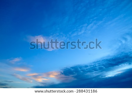 clouds on sky in the evening. Sky background  - stock photo