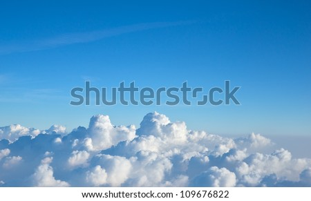 Clouds on the horizon - stock photo