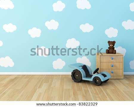 clouds on the wall - stock photo