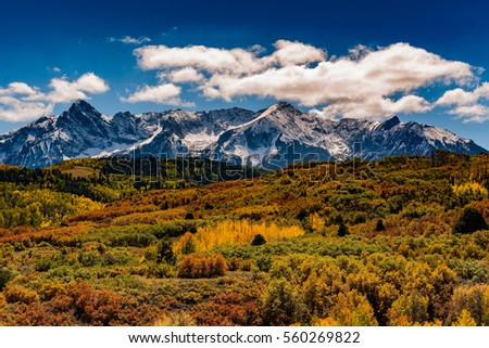Clouds over mount sneffels colorado.