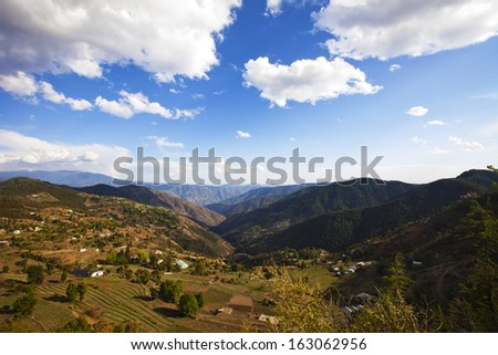 Clouds over mountain range, Kufri, Shimla, Himachal Pradesh, India