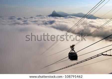 Clouds over Rio de Janeiro - stock photo