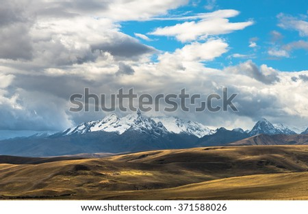 Clouds over the andes in Ancash, Peru.
