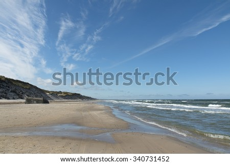 Clouds over the beach at Kandestederne, Denmark