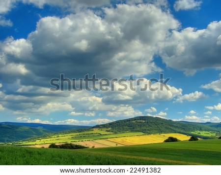 Clouds over the countryside