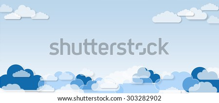 Clouds, pattern background - stock photo