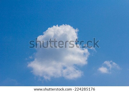 clouds, sunny day, sunshine, blue sky, white clouds