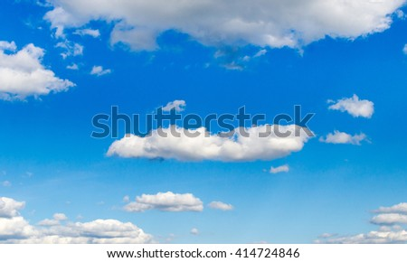 Clouds. Sunny day with white clouds and blue skies - stock photo