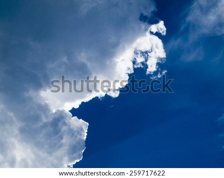 clouds with edge_2 - stock photo