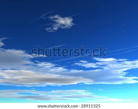 Cloudscape - stock photo