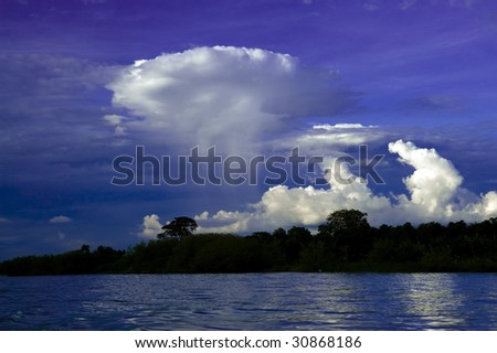cloudscape above the nile - stock photo