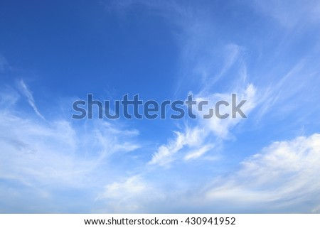 Cloudscape and blue sky.