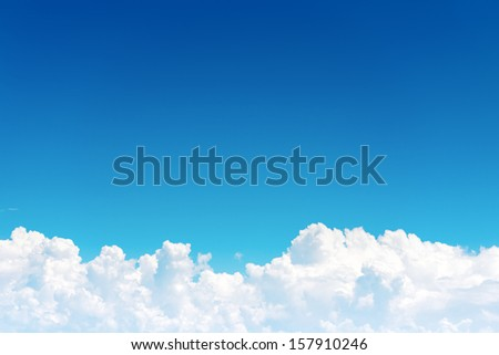 Cloudscape ,  Blue sky and white cloud - stock photo
