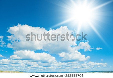 Cloudscape Divine Summer Sun  - stock photo