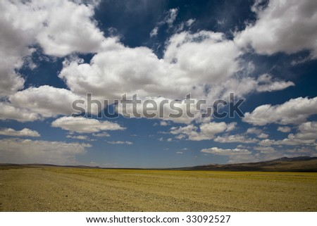 cloudscape in tibet, china - stock photo