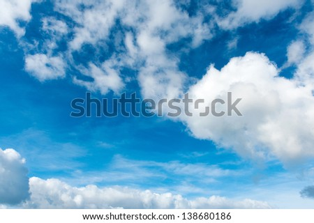 Cloudscape on a summer day