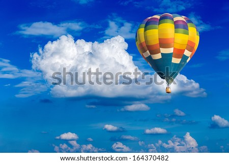 Cloudscape with blue sky background