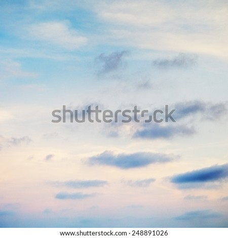cloudscape with stratocumulus clouds at early morning - stock photo