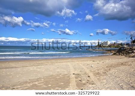 Cloudy Cronulla beach - stock photo