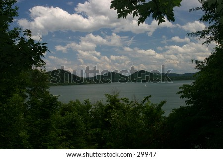 Cloudy Day at the Lake - stock photo