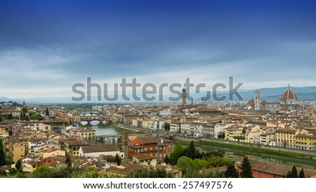 Cloudy day in Firenze, Tuscany, Italy.