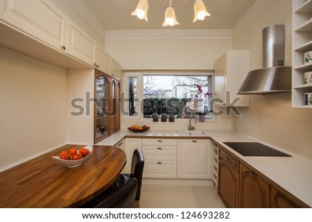 Cloudy home - spacious kitchen with big window