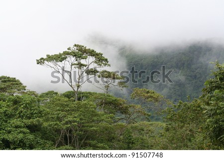 Cloudy Mountain - stock photo