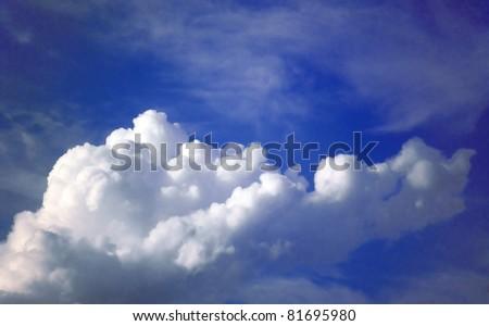 Cloudy skies - stock photo