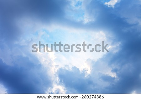 Cloudy sky. - stock photo