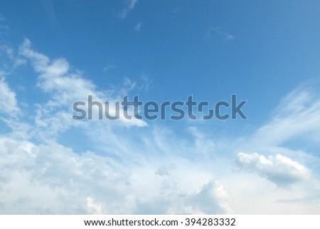 cloudy sky - stock photo