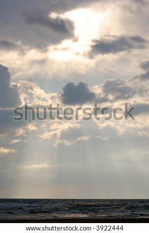 Cloudy Sky - After the Storm - stock photo
