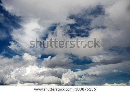 Cloudy Sky in Falam Town , Chin State, Western Myanmar (Burma) - stock photo