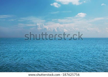 Cloudy sky on the summer sea