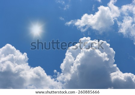 Cloudy sky, texture, a background  - stock photo