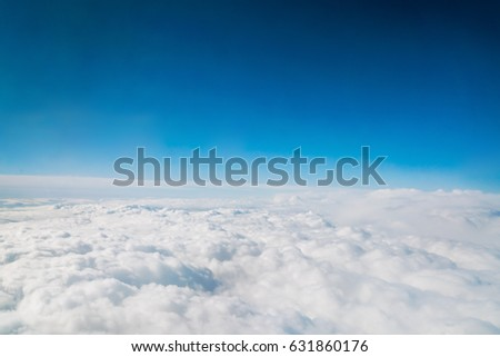 Cloudy sky, top view