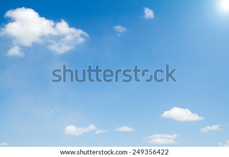 Cloudy sky with bright sunshine - stock photo