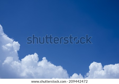 Cloudy sky with copy space. - stock photo