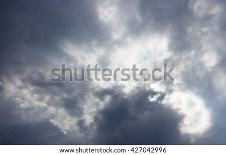Cloudy stormy in the rainy season - stock photo