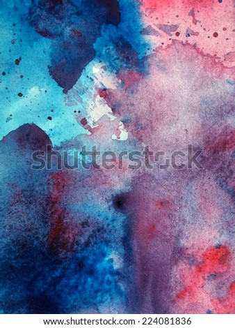 Cloudy watercolor abstract background  - stock photo