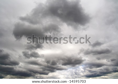 cloudy weather in the sky - stock photo