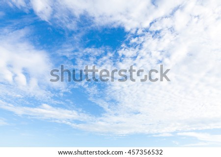 Clound in blue sky for background.