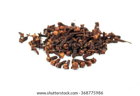 clove on a white background