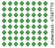 Clover Pattern For St. Patrick's Day - stock vector