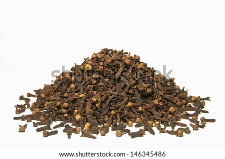 Cloves, isolated on white background - stock photo