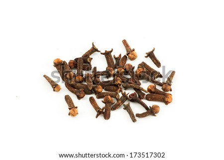 Cloves 1. The spice cloves isolated on white.