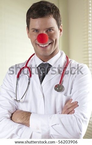 Clown Doctor Portrait - stock photo